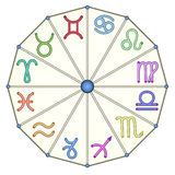 The zodiac from multicolored zodiac signs Stock Image