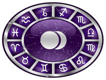 Zodiac oval Royalty Free Stock Photography