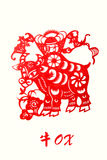 Zodiac of ox year Stock Photos