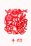 Zodiac of ox year Stock Images