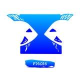 Zodiac Pisces σημαδιών διάνυσμα Στοκ Εικόνα