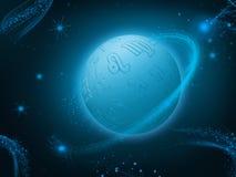 Zodiac planet background Stock Photos