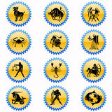 Zodiac´s sign. The horoscope´s form, astrology to see the future Royalty Free Stock Images