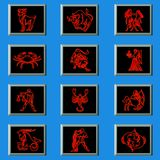 Zodiac's sign. The horoscope´s form, astrology to see the future Stock Images