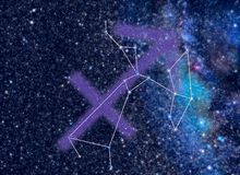 Zodiac Saggitarius stars Royalty Free Stock Photo
