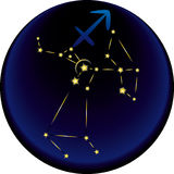 Zodiac Sagittarius Sign Stock Image
