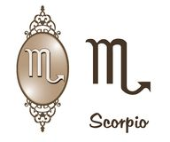 Zodiac - Scorpio. Featuring one of the zodiac sign Stock Images