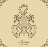 Zodiac Scorpio Royalty Free Stock Photo