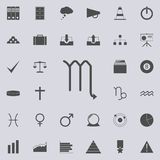zodiac scorpion mars icon. Detailed set of Minimalistic icons. Premium quality graphic design sign. One of the collection icons vector illustration