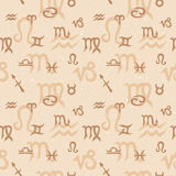Zodiac Seamless Pattern Stock Image