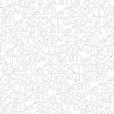 Zodiac seamless pattern Stock Photo