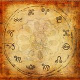 Zodiac series. Grunge and brown Royalty Free Stock Image