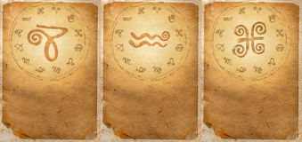 Zodiac series. For Capricorn, Aquarius, Pisces Royalty Free Stock Images