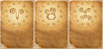 Zodiac series. For Aries, Taurus, Gemini Royalty Free Stock Photos