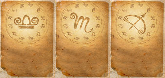 Zodiac series. For Libra, Scorpio, Sagittarius Stock Images