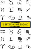 Zodiac set Stock Images
