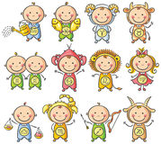 Zodiac sighns as kids Stock Image