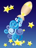 Zodiac sign - Aquarius. Stock Photography