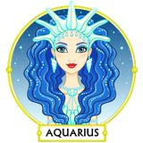 Zodiac sign Aquarius. Royalty Free Stock Image