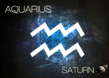 Zodiac sign - Aquarius. Elements of this image furnished by NASA Stock Photography