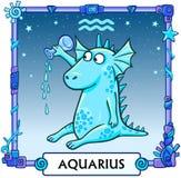 Zodiac sign Aquarius. Stock Image