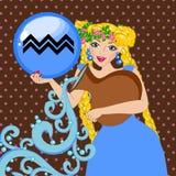 Zodiac sign Aquarius Stock Photo