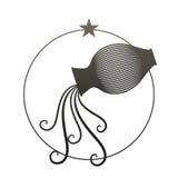 Zodiac Sign. Aquarius. Vector Illustration Royalty Free Stock Photos