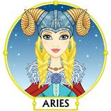 Zodiac sign Aries. Stock Photos