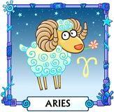 Zodiac sign Aries. Royalty Free Stock Photos