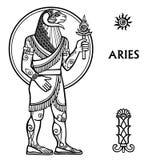 Zodiac sign Aries. Royalty Free Stock Photos