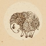 Zodiac sign - Aries Stock Photo