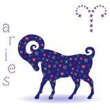 Stencil of Zodiac sign Aries Stock Photo