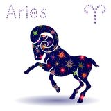 Zodiac sign Aries stencil Royalty Free Stock Photography