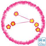 Zodiac sign Aries. Primrose concept. Constellation Aries. Stock Photography