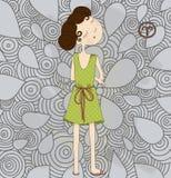 Zodiac sign Aries. Stubborn girl eps 10. Zodiac sign Aries. Stubborn girl Royalty Free Stock Photo