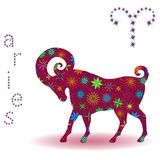 Zodiac sign Aries Royalty Free Stock Image
