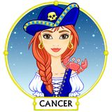 Zodiac sign Cancer. Royalty Free Stock Images