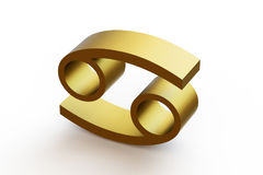 Zodiac sign - Cancer. 3D illustration on isolated white background Stock Image