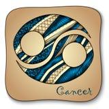 Zodiac sign - Cancer. Doodle hand-drawn style Stock Photos