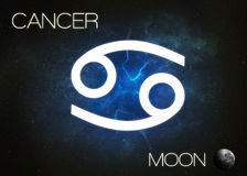 Zodiac sign - Cancer. Elements of this image furnished by NASA royalty free stock images