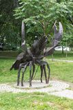 Zodiac sign Cancer in the Park at the Amur Boulevard. KHABAROVSK, RUSSIA - JULY, 25, 2017: Zodiac sign Cancer in the Park at the Amur Boulevard stock photography