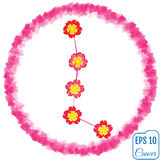 Zodiac sign Cancer. Primrose concept. Flowers concept. Constella Stock Images