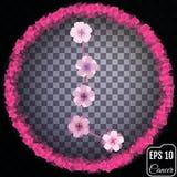 Zodiac sign Cancer. Sakura concept. Flowers concept. Constellati Royalty Free Stock Photo