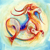 Zodiac sign Capricorn. Series of 12 signs of the zodiac, zodiac animals stock illustration