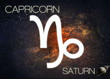 Zodiac sign - Capricorn. Elements of this image furnished by NASA Stock Image