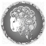 Zodiac sign Capricornus. Royalty Free Stock Photos