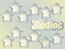 Zodiac sign cartoon vector illustration. Royalty Free Stock Photo
