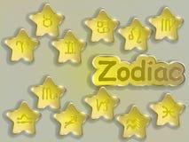 Zodiac sign cartoon vector illustration. Royalty Free Stock Image