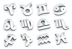 Zodiac sign,  complete set Stock Photos