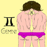 Zodiac sign of Gemini EPS10 Stock Photos